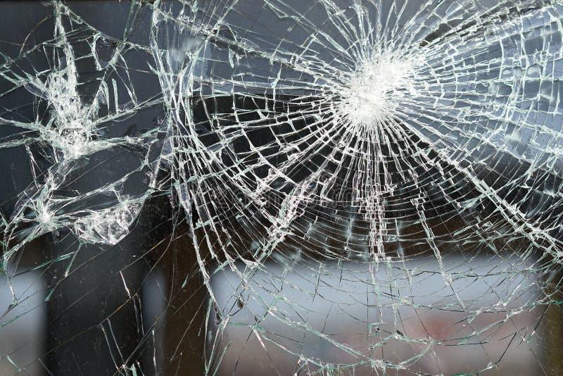 Zniszczony okno obraz stock