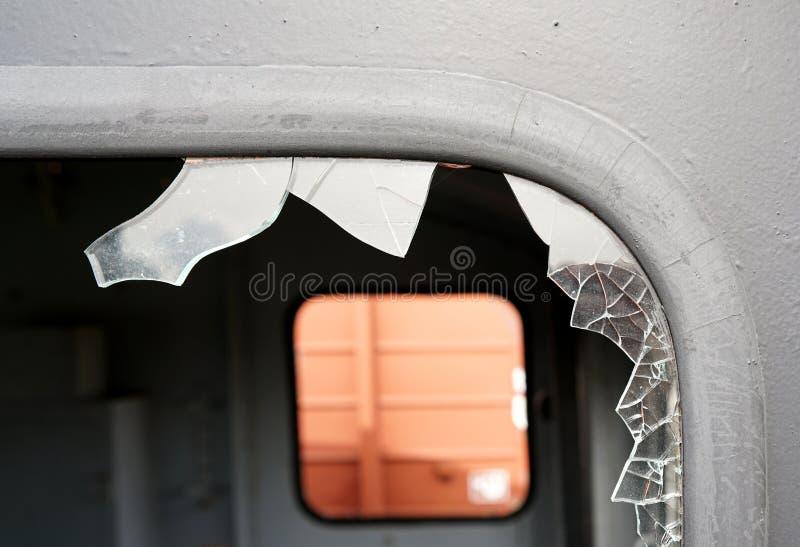 Zniszczony okno zdjęcie stock