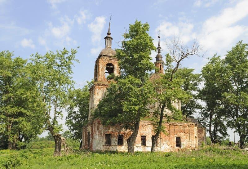 Zniszczony Ortodoksalny kościół obrazy royalty free