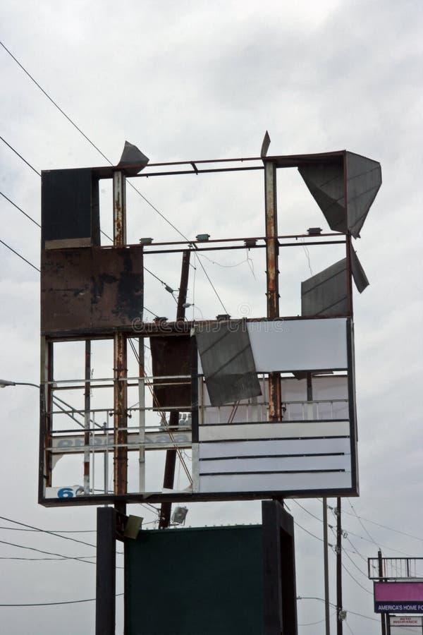 zniszczony znak zdjęcie stock