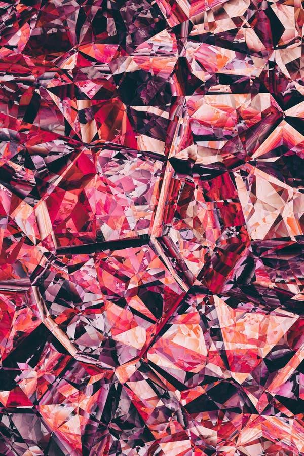 Zniweczony kryształ mozaiki wzoru tekstury przełamu tła projekt ilustracja wektor