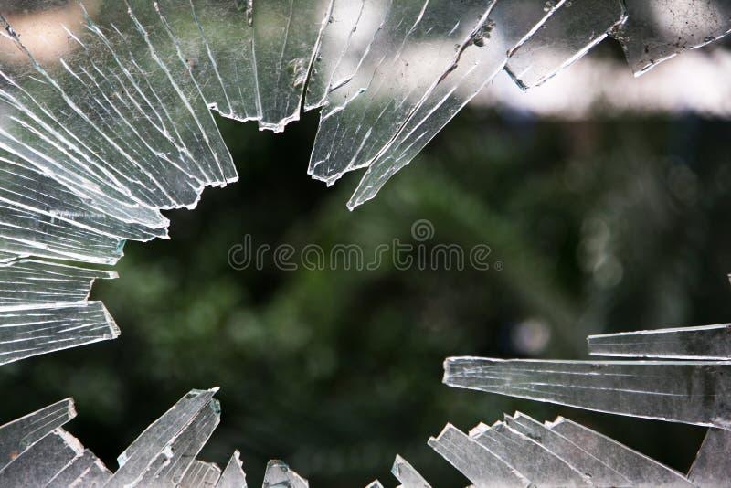 zniweczony szkła okno zdjęcia stock