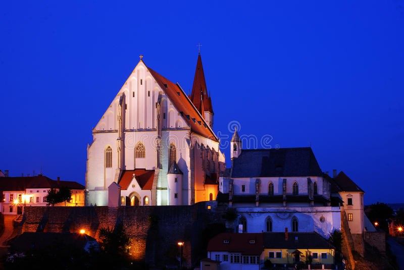 znojmo πόλεων εκκλησιών στοκ εικόνα