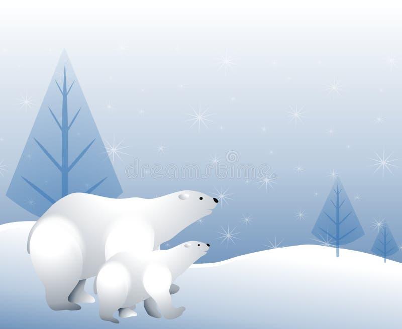 znosi biegunową śnieżną zima ilustracja wektor