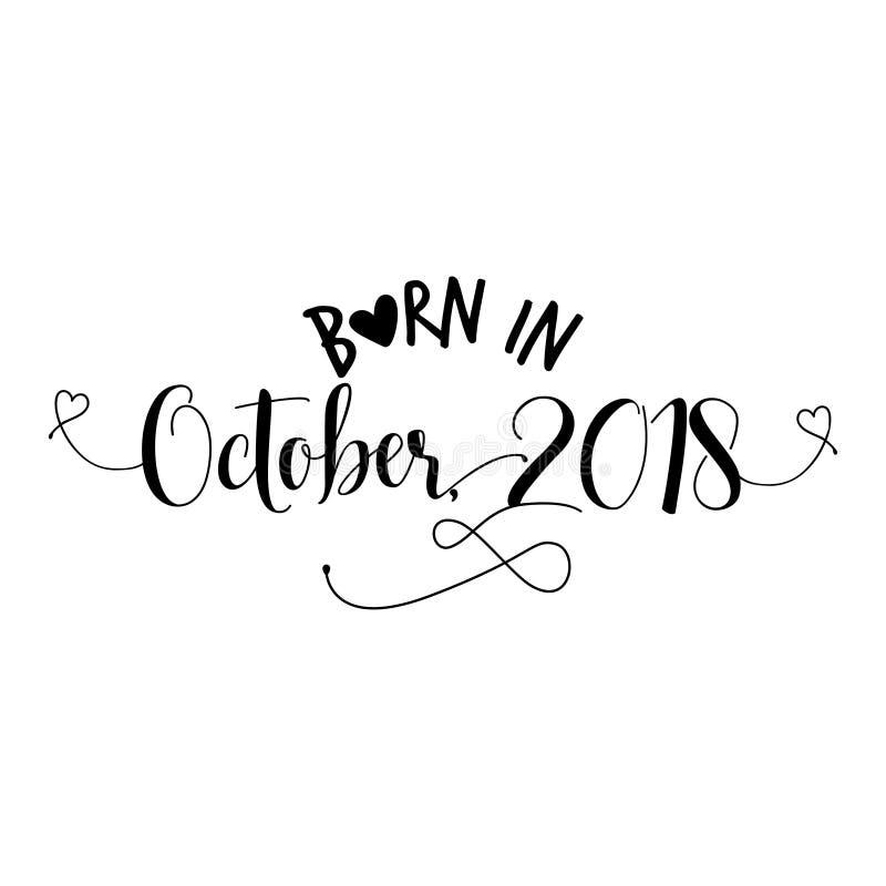 Znoszący w Październiku 2018 - pepiniera wektoru ilustracja ilustracja wektor