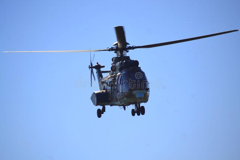 Zoals-532 AL Cougar-het commando begroet publiek stock foto's
