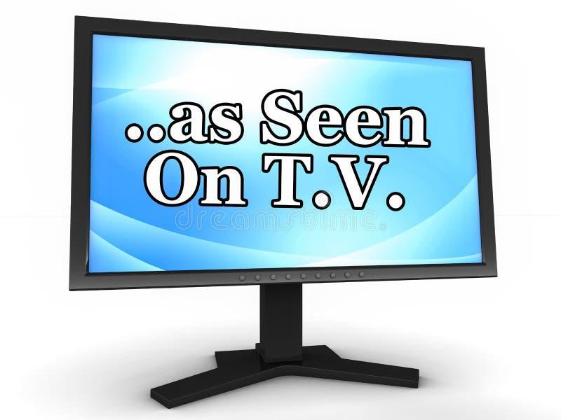 Zoals gezien op TV royalty-vrije illustratie