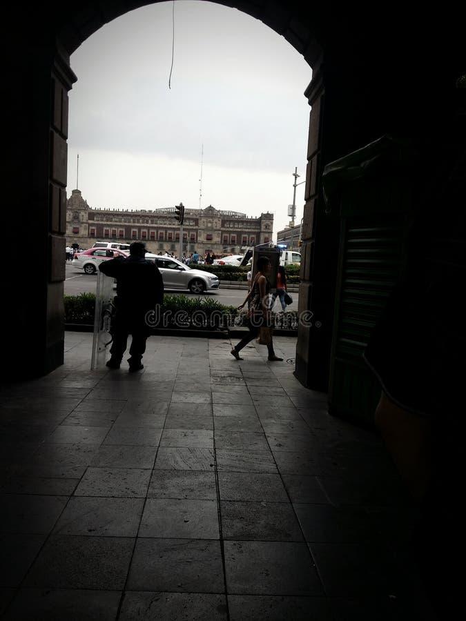 Zocalo. CDMX. Center from the mexico city stock photography