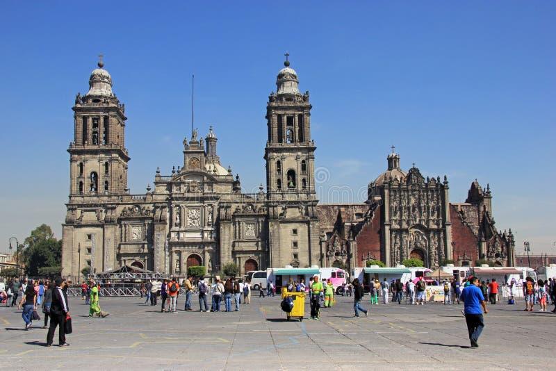 Zocalo, Cidade do México, México fotografia de stock