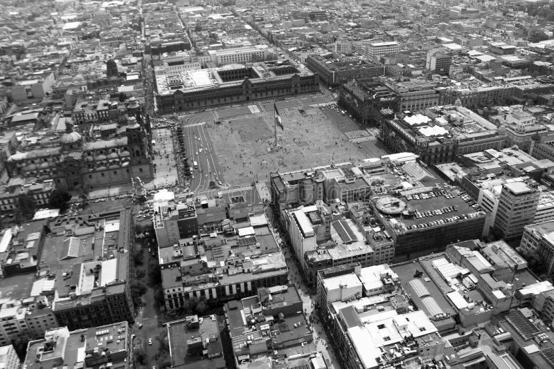 Zocalo de la ciudad de Messico fotografia stock libera da diritti