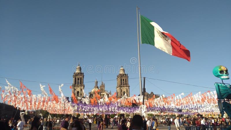 Zocalo Meksyk fotografia royalty free