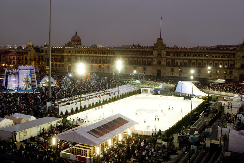 Zocalo of Mexico city royalty free stock image