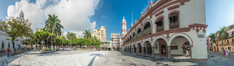 Zocalo ou Plaza de Armas, o quadrado principal de Veracruz, México fotografia de stock