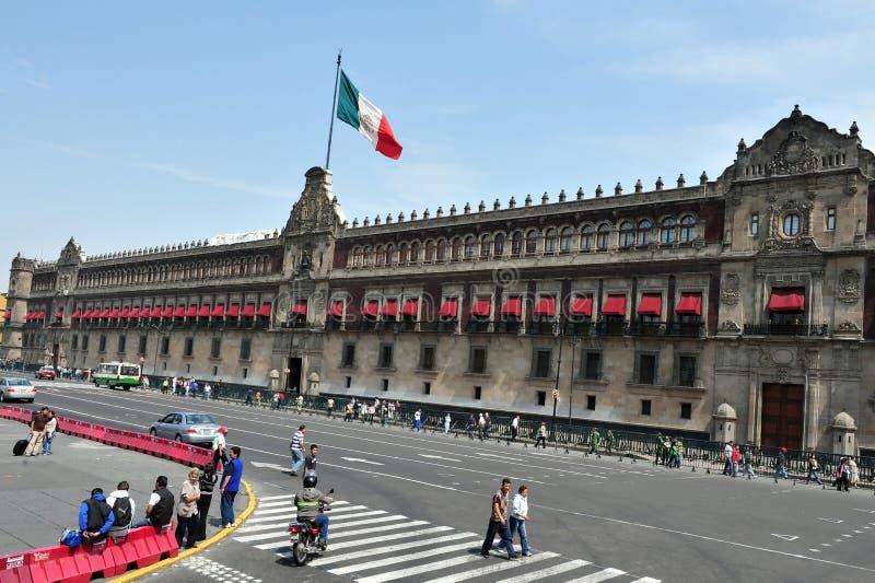 Zocolo in Mexiko City stockbilder