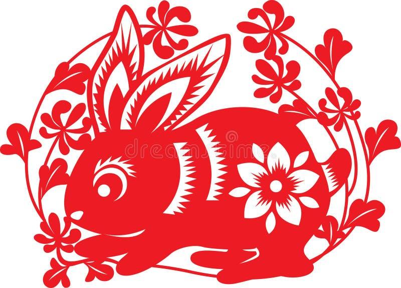 Zodíaco chinês: coelho ilustração royalty free