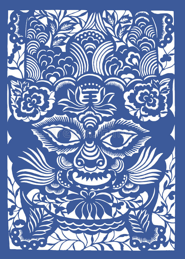 Zodíaco chinês do ano do tigre ilustração royalty free