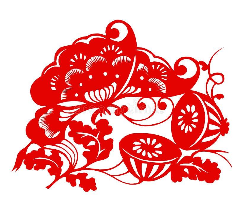 Zodíaco chinês dos lótus ilustração royalty free
