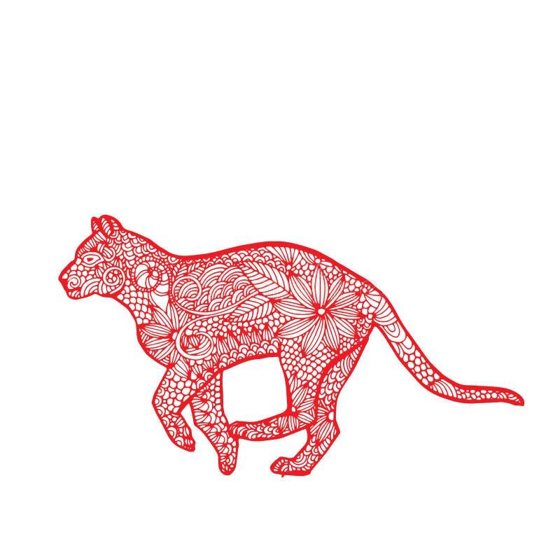 Zodíaco do chinês do tigre ilustração do vetor