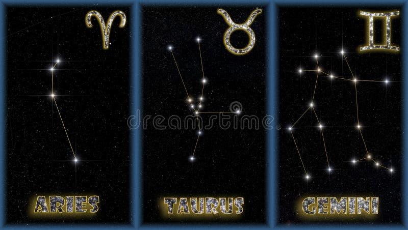 zodiac άνοιξη σημαδιών ελεύθερη απεικόνιση δικαιώματος