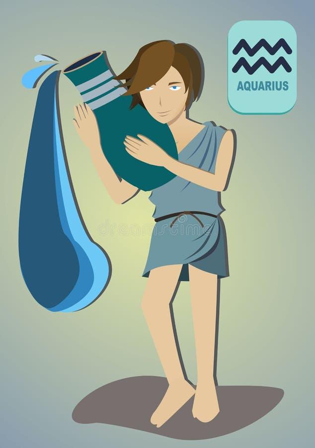 Zodiac άτομο: Υδροχόος στοκ εικόνα