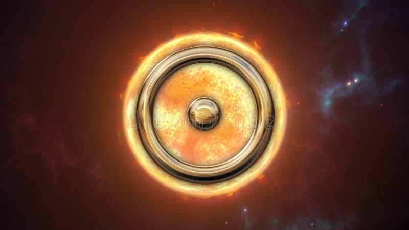 Zodiac ήλιων σύμβολο και πλανήτης ωροσκοπίων τρισδιάστατη απόδοση ελεύθερη απεικόνιση δικαιώματος