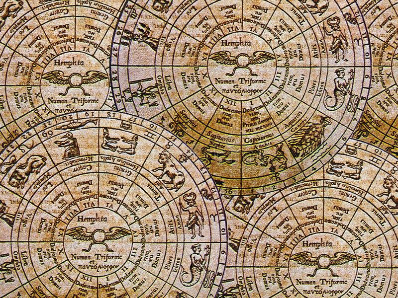 zodiac ανασκόπησης στοκ φωτογραφία με δικαίωμα ελεύθερης χρήσης