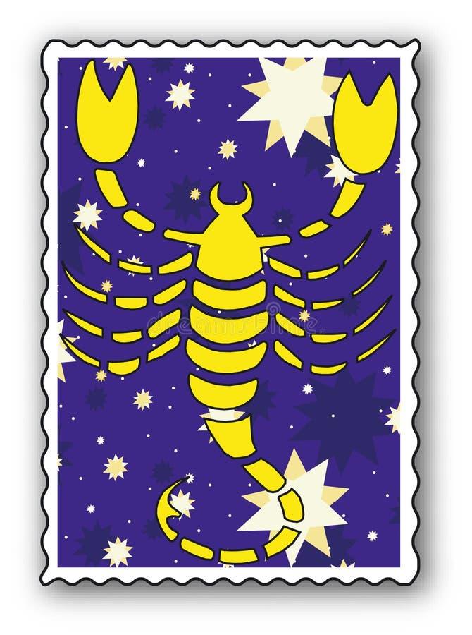 zodiac γραμματοσήμων διανυσματική απεικόνιση