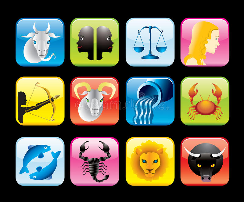 zodiac εικονιδίων απεικόνιση αποθεμάτων