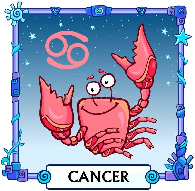 Zodiac καρκίνος σημαδιών διανυσματική απεικόνιση