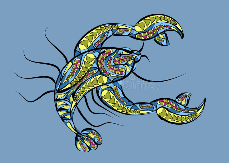 Zodiac καρκίνου σημάδι απεικόνιση αποθεμάτων