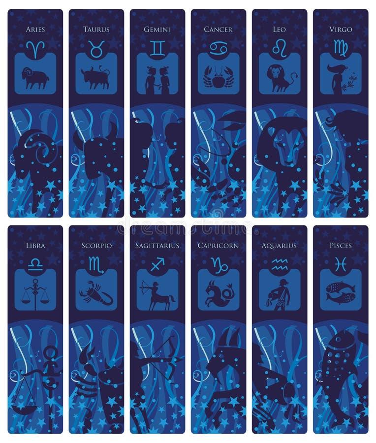 Zodiac σελιδοδείκτες ελεύθερη απεικόνιση δικαιώματος