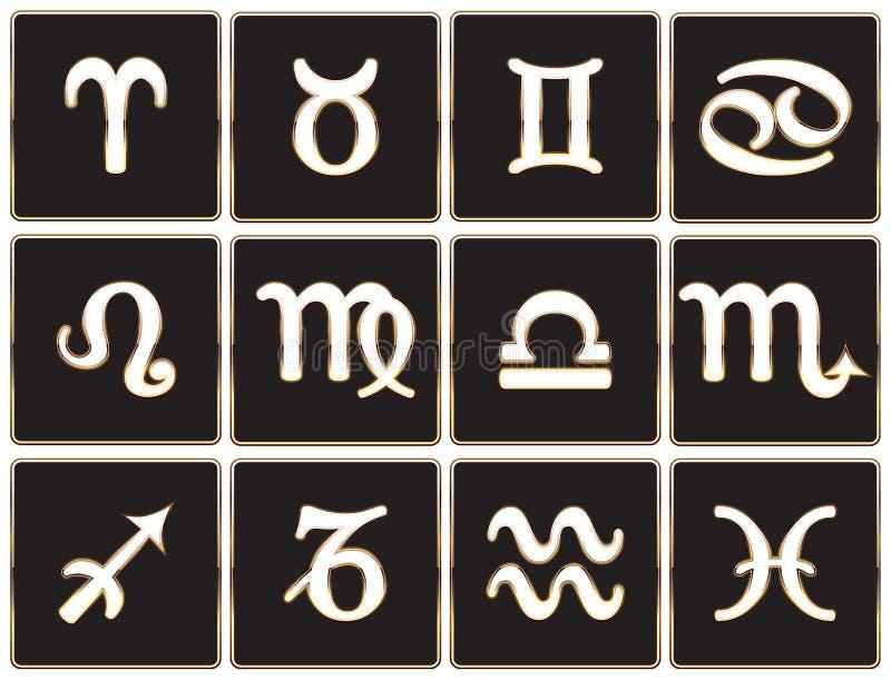 Zodiac σημάδια ελεύθερη απεικόνιση δικαιώματος