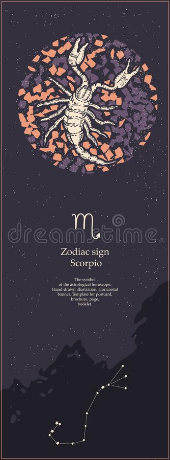 Zodiac σημάδι Σκορπιός Το σύμβολο του αστρολογικού ωροσκοπίου r r o ελεύθερη απεικόνιση δικαιώματος