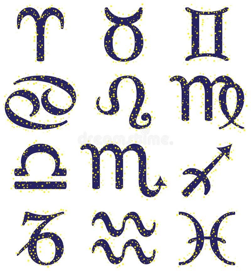 Zodiac σημάδια απεικόνιση αποθεμάτων