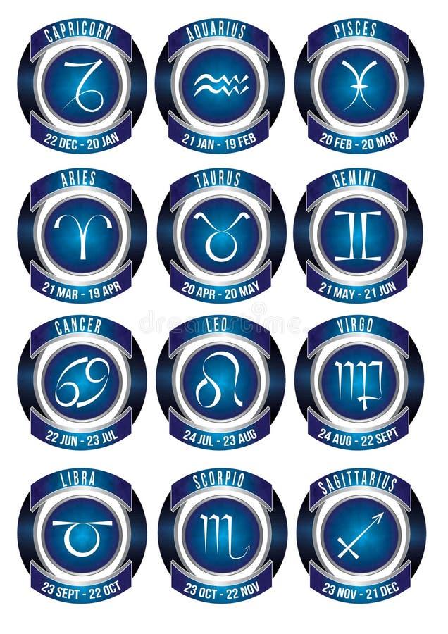 Zodiac σημάδια στοκ φωτογραφίες