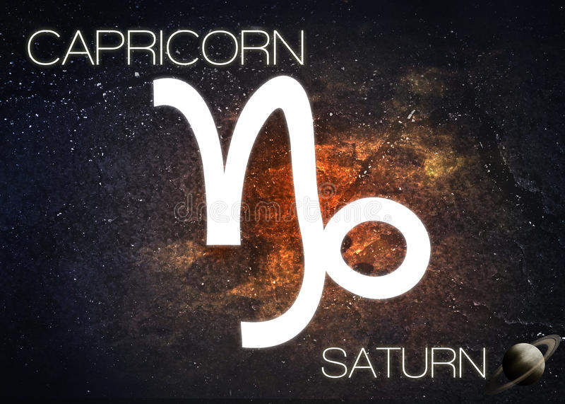 Zodiac σημάδι - Αιγόκερος στοκ εικόνα
