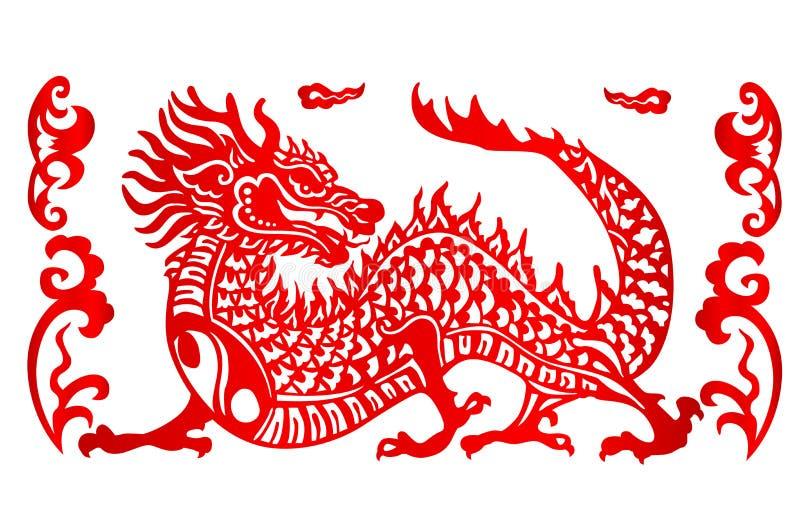 Zodiac σημάδι για το έτος δράκου απεικόνιση αποθεμάτων