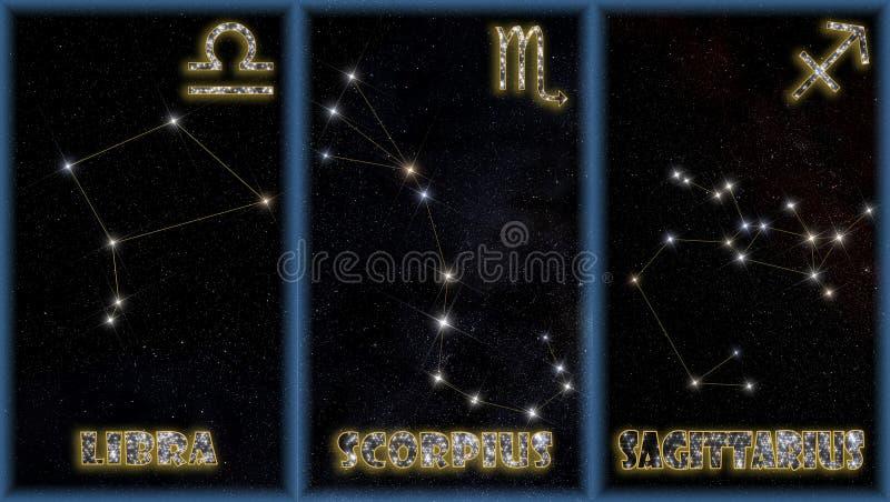 zodiac σημαδιών φθινοπώρου διανυσματική απεικόνιση
