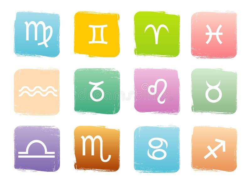 zodiac σημαδιών ωροσκοπίων διανυσματική απεικόνιση