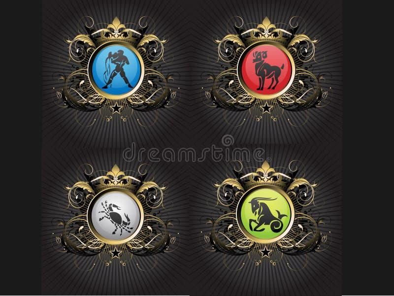 zodiac σημαδιών απεικόνιση αποθεμάτων