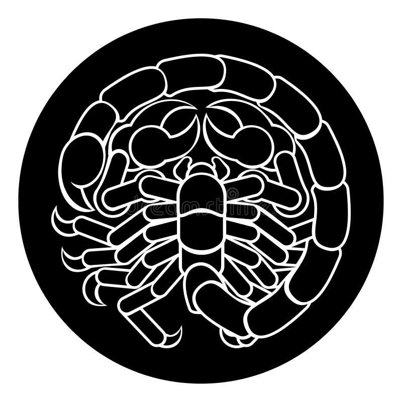 Zodiac Σκορπιού σκορπιών σημάδι διανυσματική απεικόνιση