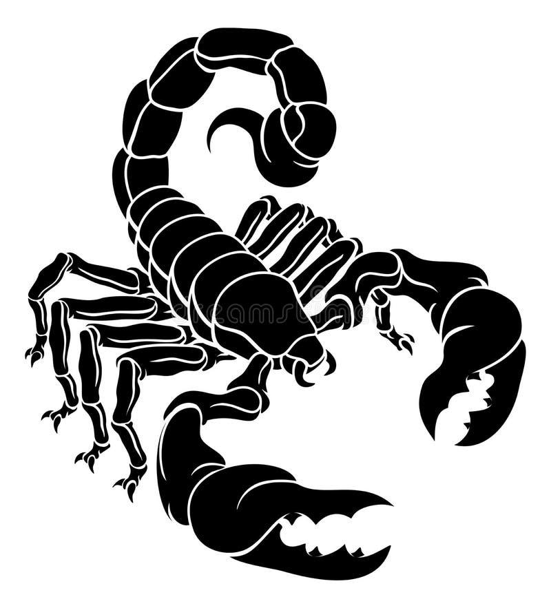 Zodiac Σκορπιού σκορπιών σχέδιο σημαδιών απεικόνιση αποθεμάτων