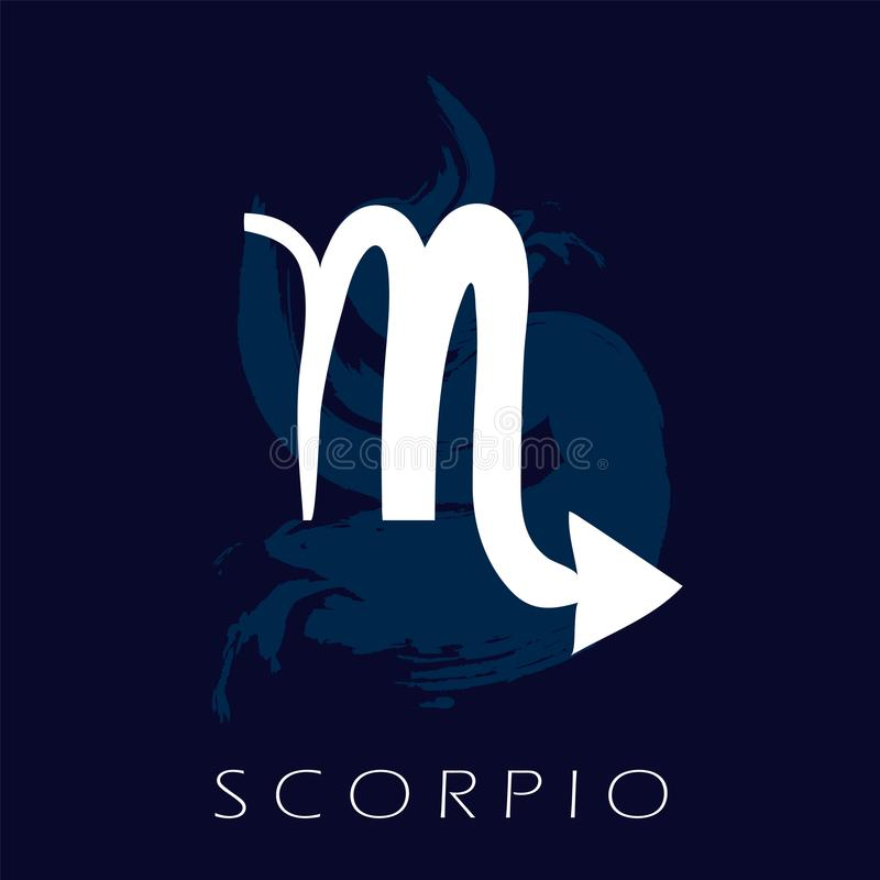 Zodiac Σκορπιού σύμβολο Πρόβλεψη του μέλλοντος με τα σημάδια zodiac ελεύθερη απεικόνιση δικαιώματος