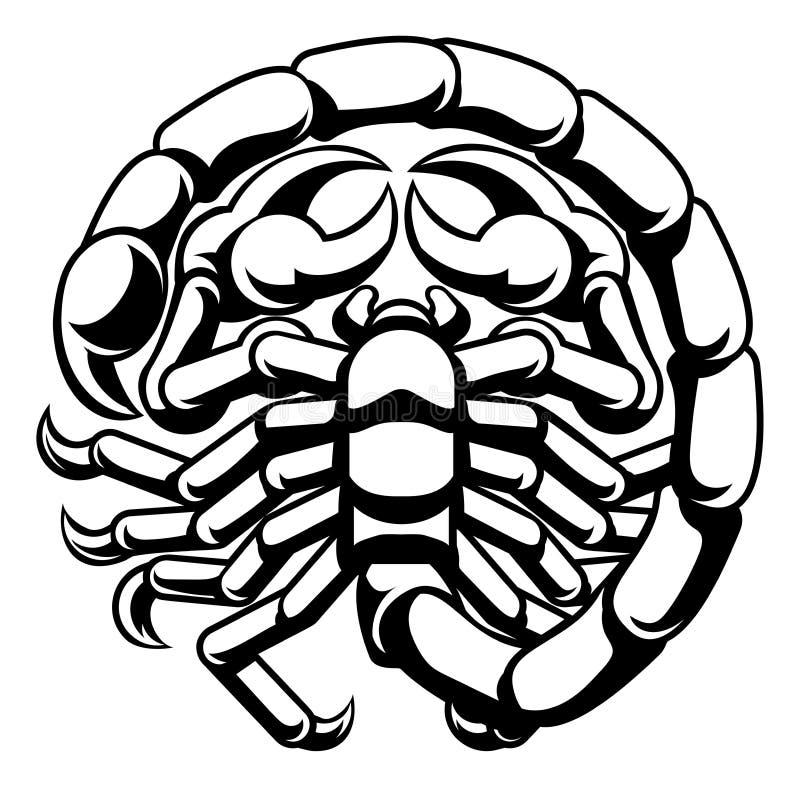 Zodiac σκορπιών Σκορπιού σημάδι αστρολογίας ελεύθερη απεικόνιση δικαιώματος