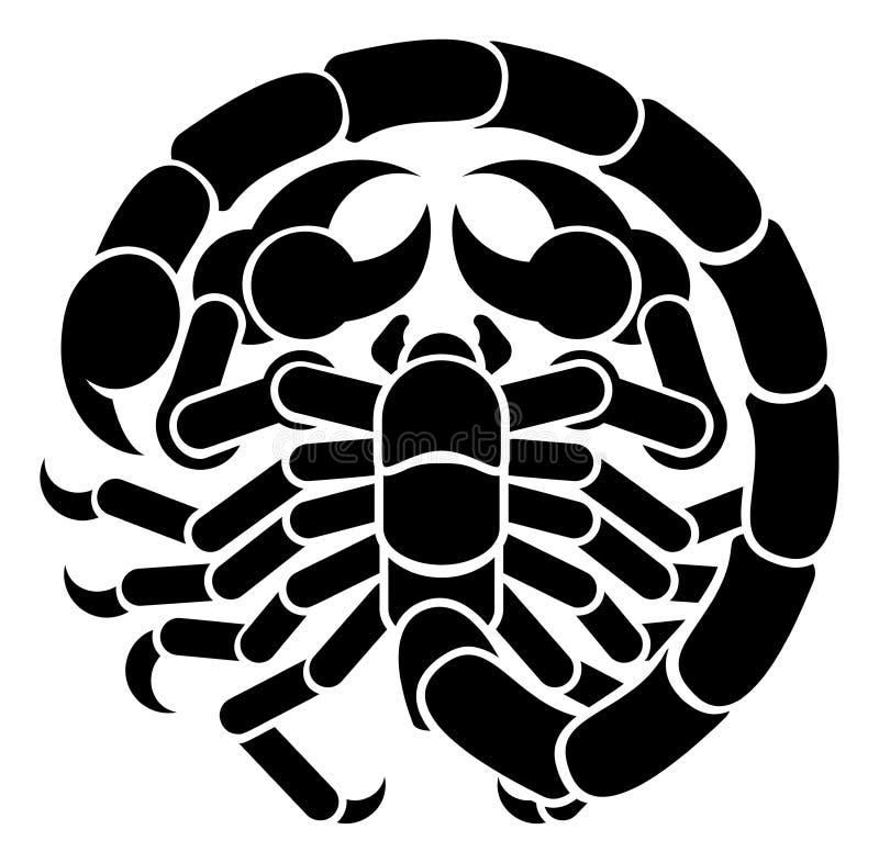 Zodiac σκορπιών Σκορπιού σημάδι ωροσκοπίων απεικόνιση αποθεμάτων