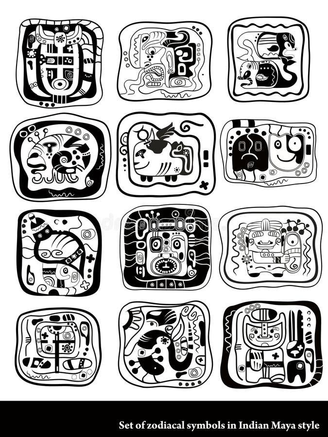 zodiac συμβόλων απεικόνιση αποθεμάτων