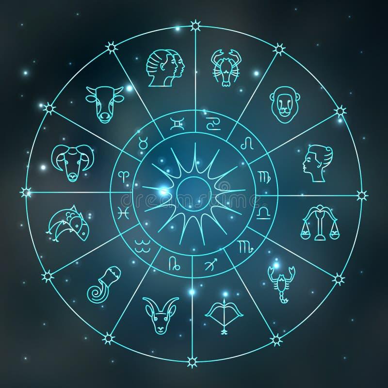 Zodiac σύμβολα ελεύθερη απεικόνιση δικαιώματος