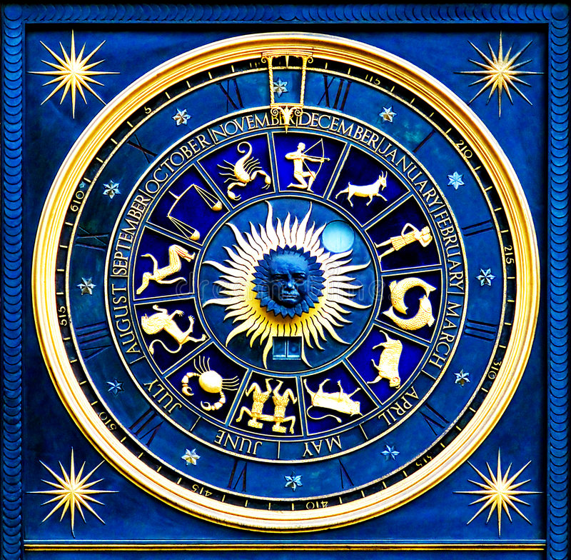 Zodiac Blue royalty free stock photos