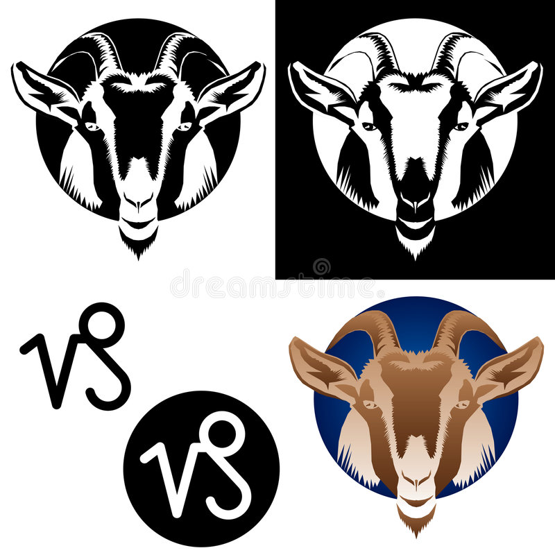 Zodiac Capricorn Icons royalty free stock image