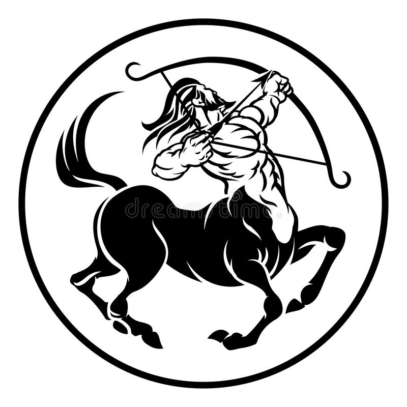 Zodiac Centaur Sagittarius σημάδι ωροσκοπίων ελεύθερη απεικόνιση δικαιώματος
